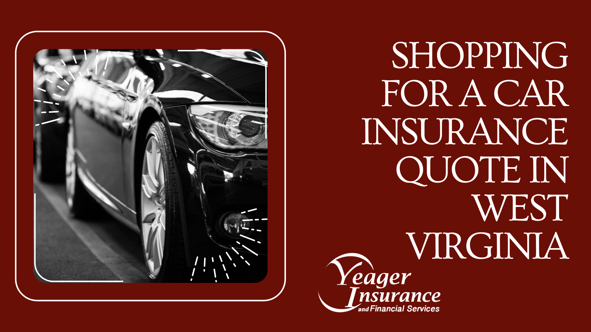Right side of a black car. West Virginia Car Insurance Quote